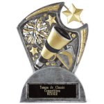 Large Spin Award Cheer Cheerleading Trophy Awards