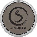 Leatherette Round Coaster with Silver Edge -Gray  Employee Awards