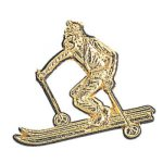 Skier Chenille Pin Lapel Pins