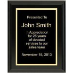 Ultra Gloss Black Plaque Recognition Plaques