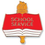 School Service Lapel Pin Scholastic Trophy Awards