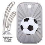 Soccer Dog Tag Soccer Trophy Awards