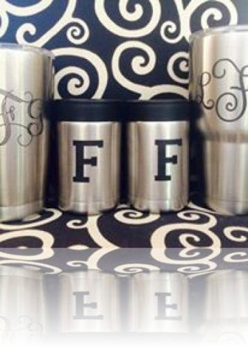 Yeti, RTic, Stainless Steel Cup Engraving